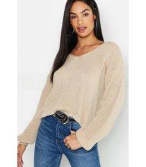 tall v neck sweater, ecru