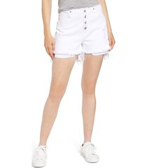 hudson jeans sloane raw waist cutoff shorts, size 28 in diffused at nordstrom