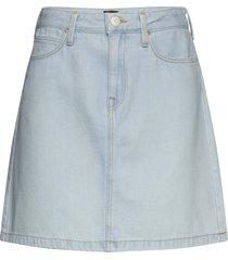a line zip skirt kort kjol blå lee jeans