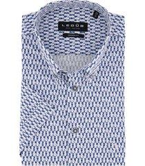 korte mouwen overhemd ledub modern fit blauw
