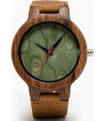 reloj madera bisel verde millam