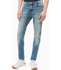 jeans skinny george desgatado calvin klein