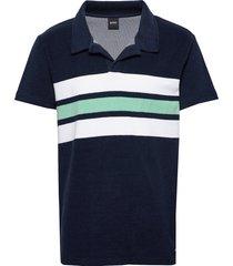 beach polo shirt polos short-sleeved blå boss