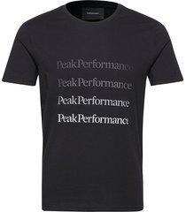 m ground tee 2 white t-shirts short-sleeved svart peak performance