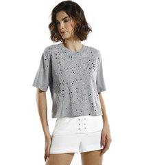 camiseta john john basic grey malha cinza feminina (cinza medio, gg)