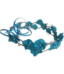 headband fuxicos & frescuras coroa de fada azul turquesa claro