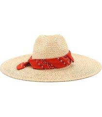 alanui san antonio straw bandana hat