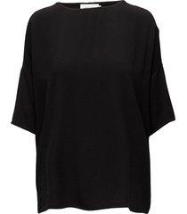 mains tee 5687 blouses short-sleeved svart samsøe samsøe