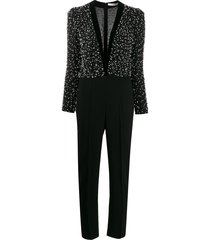 givenchy embellished v-neck jumpsuit - black