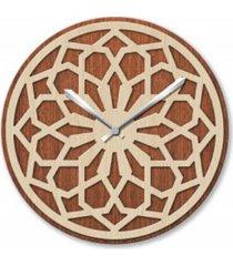 zegar z litego drewna, ścienny, duży, elegancki