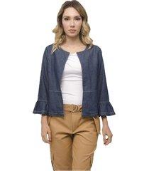 casaqueto jeans miss joy manga 7/8 denim