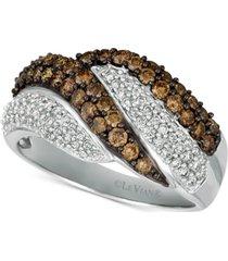 le vian chocolatier diamond swirl ring (1-1/8 ct. t.w.) in 14k white gold