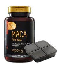 maca peruana 60 cápsulas upnutri + porta comprimidos