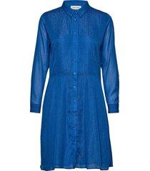 dhmollymy dress knälång klänning blå denim hunter
