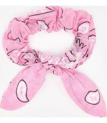 arizona love women's chouchou bandana scrunchie - pink