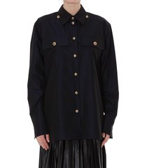 givenchy 4g buttons detail popeline shirt