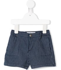 bonpoint striped fitted shorts - blue