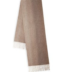 ombre woven cashmere scarf