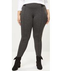 lane bryant women's innersculpt ponte legging - seamed 20 dark heather grey