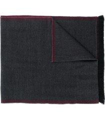 lady anne contrast-trim scarf - grey