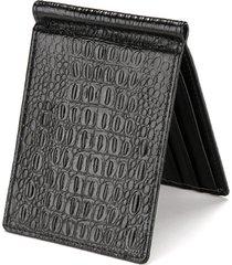 4 porta carte di credito pu portafoglio in pelle coccodrillo serpente scala portamonete portamonete per uomo