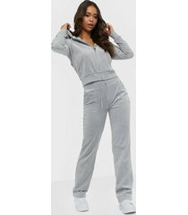 juicy couture del ray classic velour pant byxor