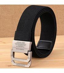 cinturón de hombres, cinturón elástico elástico de-negro