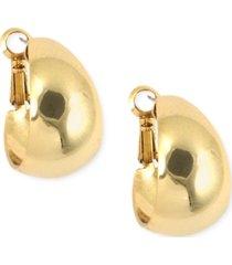 """anne klein 3/4"""" medium band small hoop earrings"""