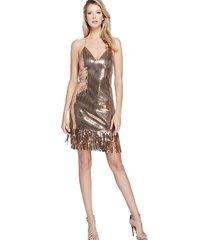 vestido golden sand halter dress dorado guess marciano