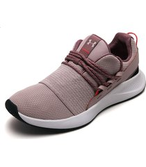 tenis lifestyle rosa mauve-blanco under armour charged breathe lace