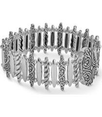carolyn pollack bar link magnetic bracelet in sterling silver