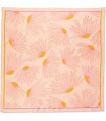 kate spade new york falling flowers silk square scarf