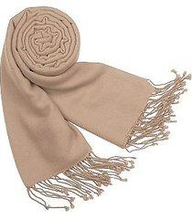 forzieri designer scarves, solid pure pashmina fringed shawl