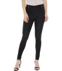 pantalón bunnys dash alforzas negro - calce ajustado