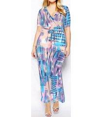vestiti stampati in cotone maxi v di boemia per le donne