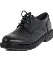 zapato ingles base strass negro mailea