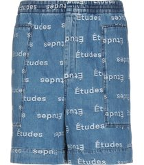 études denim shorts
