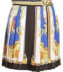 versace baroque printing elastic waist skirt