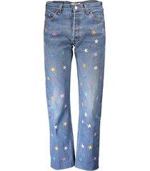 levi's boyfriend jeans multicolored stars