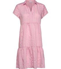 dress w. small collar kort klänning rosa coster copenhagen