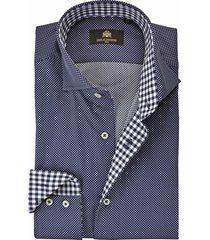 circle of gentlemen overhemd cas stip contrast slim fit