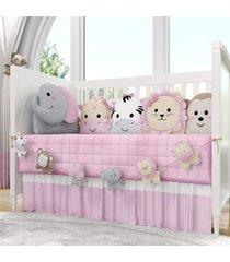 varal decorativo amiguinhas safã¡ri rosa 1,30m grã£o de gente rosa - rosa - menina - dafiti