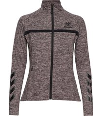 hmljasmine zip jacket sweat-shirt trui grijs hummel