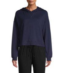bb dakota women's warmest wishes hooded sweater - oil slick - size m