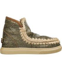 stivaletti stivali donna in pelle eskimo sneaker