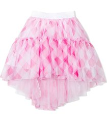 monnalisa white and pink tulle skirt