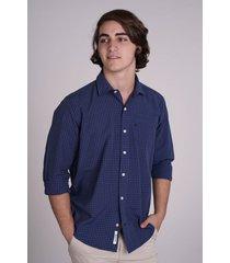 camisa   azul rever pass cuadritos
