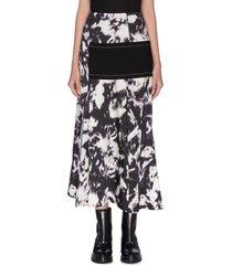 'abstract daisy' print layered skirt