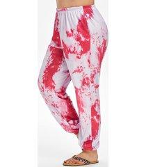 lounge tie dye high waisted jogger pants