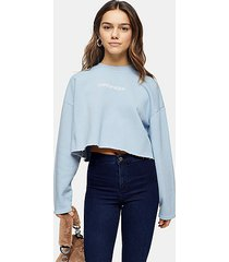 petite blue copenhagen sweatshirt - pale blue